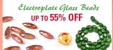 Electroplate Glass Beads UP TO 55% OFF