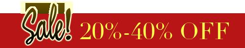 Sale! 20%-40% OFF