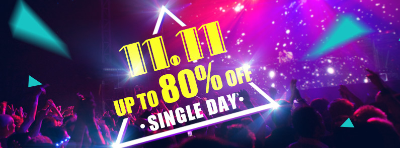 11.11 Single Day -- 350,000+ Items Up to 80% OFF
