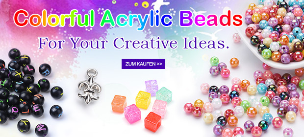 Colorful Acrylic Beads For Your Creative Ideas.