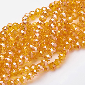Perles Electroplate Oranges