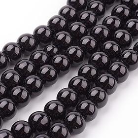 Negro  Abalorios de Vidrio