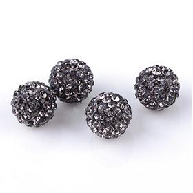 Perles en Strass Noires