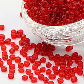 Rojo Abalorios de Mostacillas