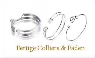 Fertige Colliers & Fäden