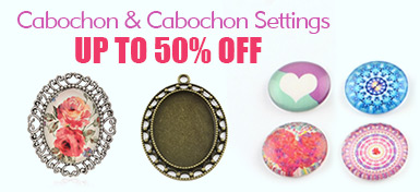 Cabochon & Cabochon Settings UP TO 50% OFF