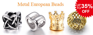 Metal European Beads UP TO 35% OFF
