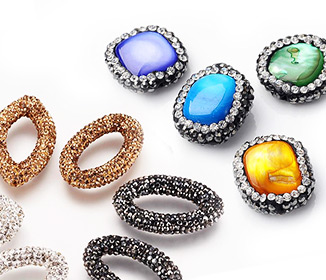Perlas con Arcilla Polimérica Rhinestone