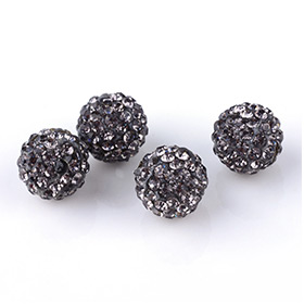 Black Rhinestone Beads