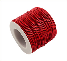 1mm Red Waxed Cotton Thread Cords