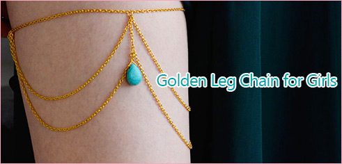 Golden Leg Chain for Girls