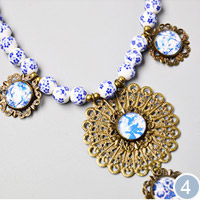 Porcelain Beads Necklace
