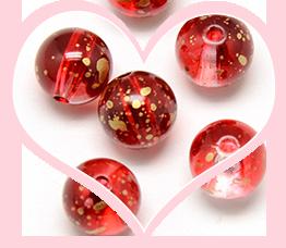 Perles Acryliques Rouges