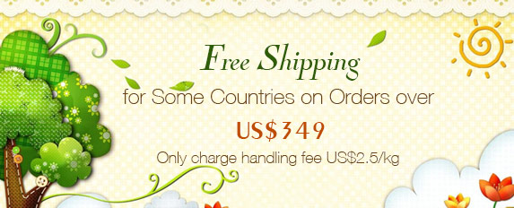 Free Shipping for Some Countries on Orders over US$349