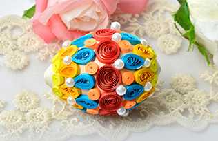 Colorful Quilling Easter Eggs for Kids
