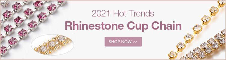 2021 Hot Trends Rhinestone Cup Chain