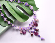 1874 Amethyst Bead Necklace