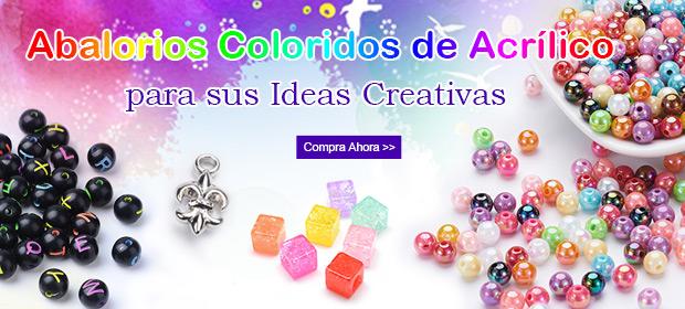 Abalorios Coloridos de Acrílico para sus Ideas Creativas.