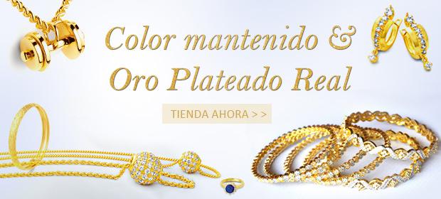 Color mantenido & Oro Plateado Real