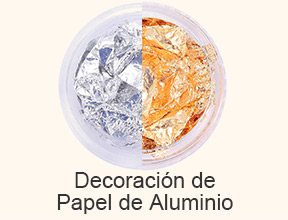 decoración de papel de aluminio
