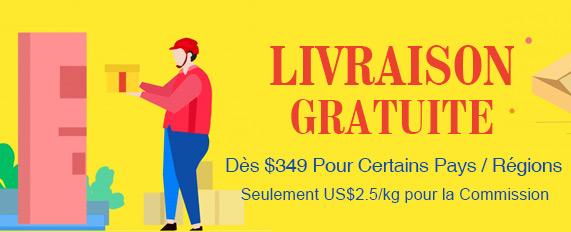 LivraisonGratuiteDès$349PourCertainsPays / Régions