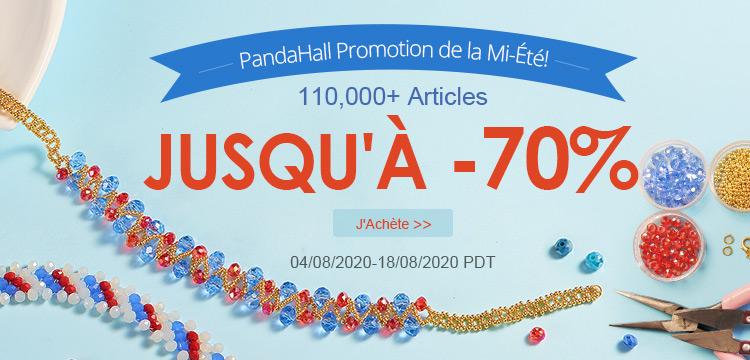 PandaHall Promotion de la Mi-Été! 110,000+ Articles Jusqu'à -70%