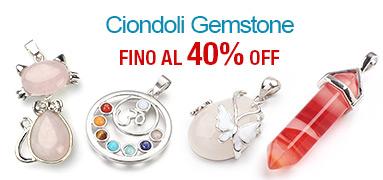 Ciondoli Gemstone FINO Al 40% OFF