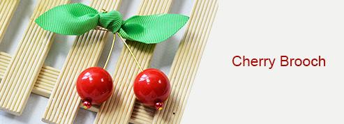 Cherry Brooch