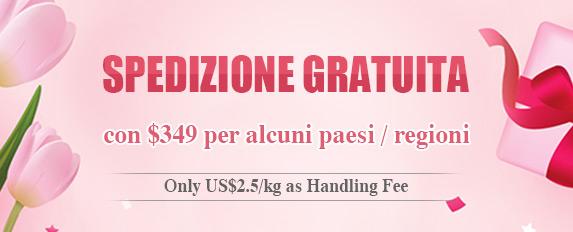 SPEDIZIONE GRATUITA con $349 per alcuni paesi / regioni Only US$2.5/kg as Handling Fee