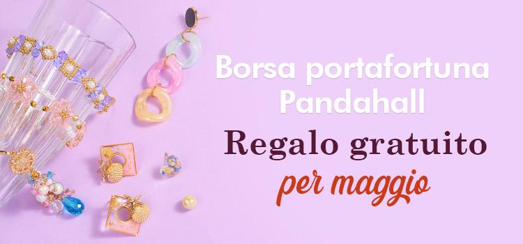 Borsa portafortuna Pandahall Regalo gratuito per maggio