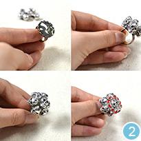 Skull Beads Ring